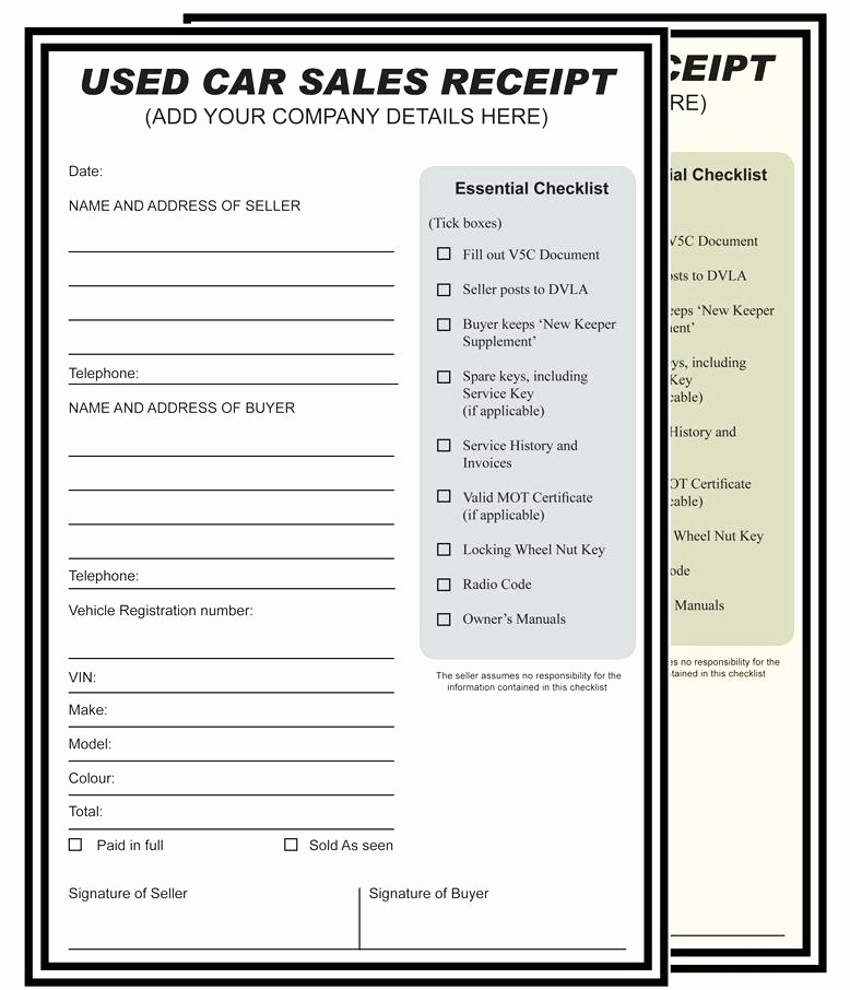 Template for Selling A Car Inspirational Selling Car Receipt Selling A Car Receipt Template Sell