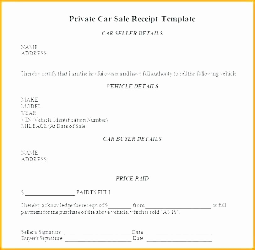 Template for Selling A Car Luxury Car Sales Invoice Used Car Sale Invoice format