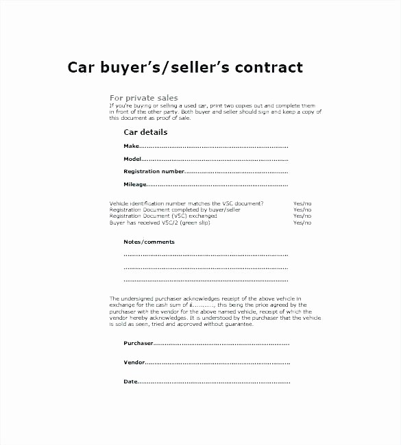 Template for Selling A Car Luxury Used Car Sales Receipt Template Sale Word Selling Bill
