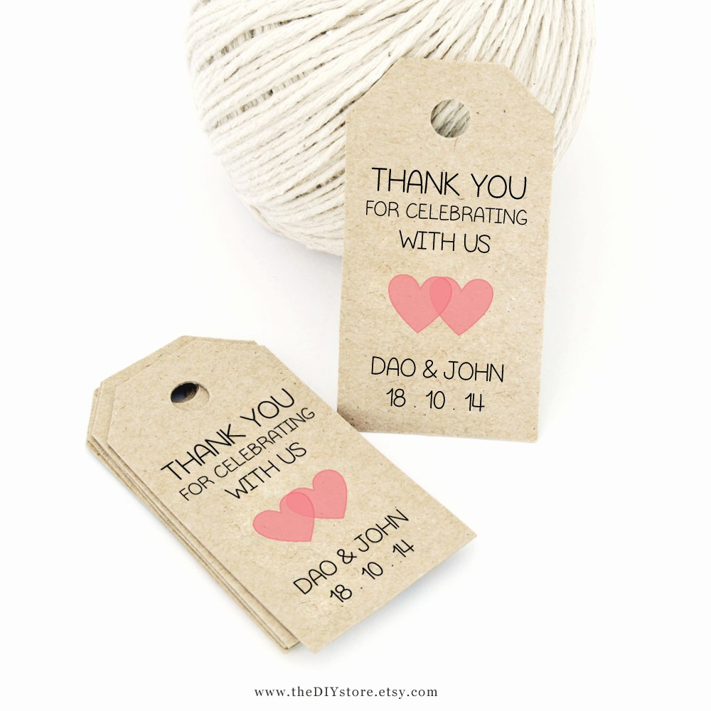 Template for Tags for Gifts Awesome Favor Tag Template Printable Small Double Heart Design
