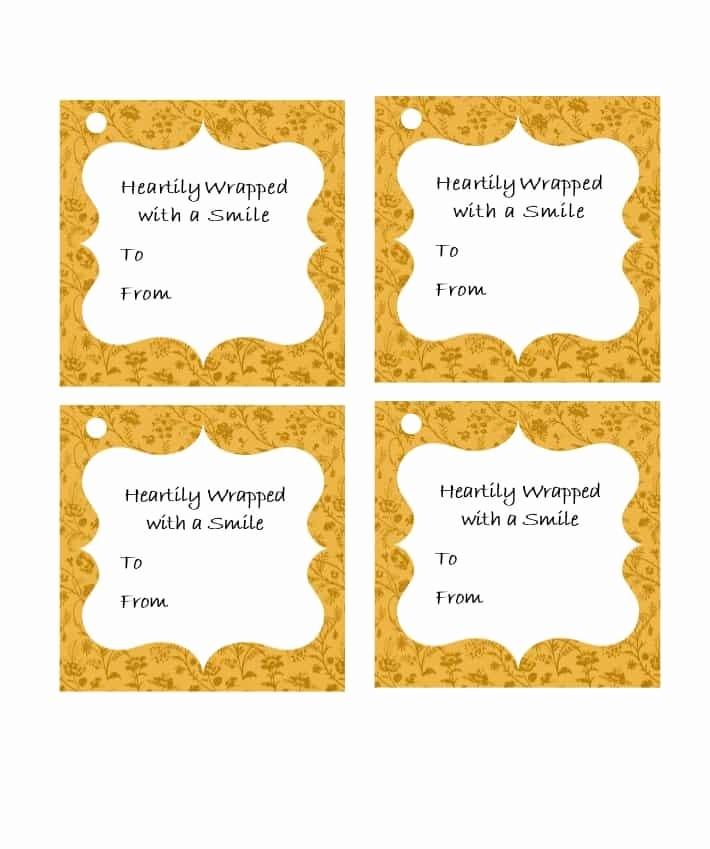Template for Tags for Gifts Beautiful 44 Free Printable Gift Tag Templates Template Lab