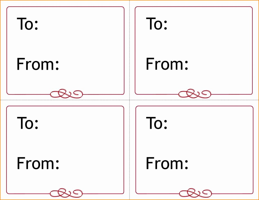 Template for Tags for Gifts Best Of Gift Tag Template Word