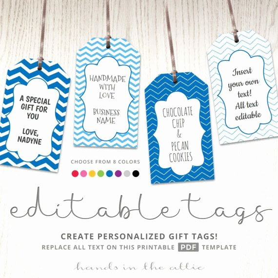 Template for Tags for Gifts Elegant Editable T Tags T Tag Template Text Editable