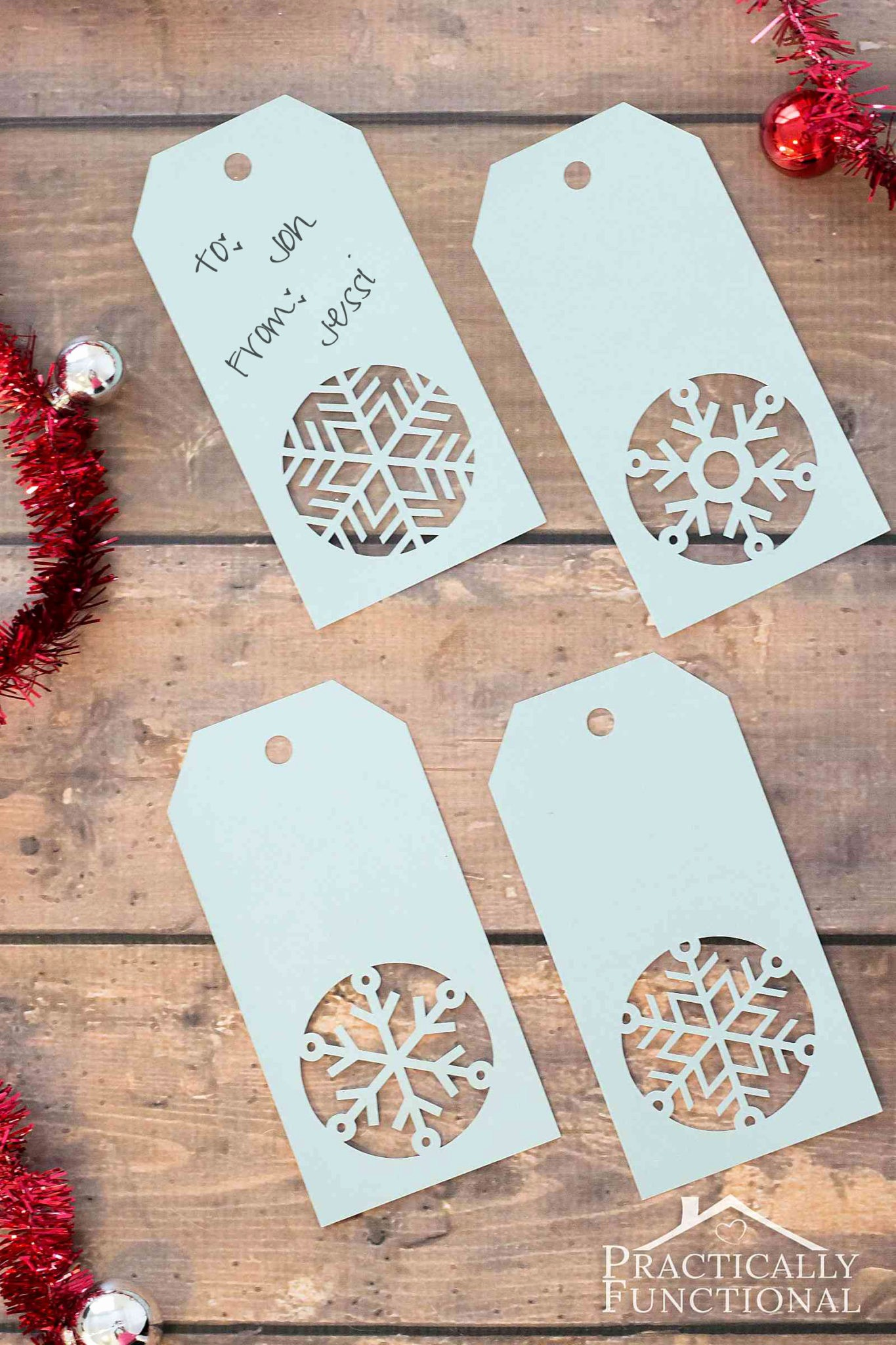 Template for Tags for Gifts Elegant Handmade Snowflake Christmas Gift Tags Free Template