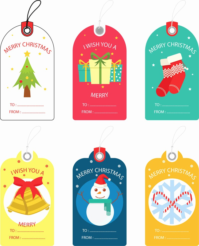 Template for Tags for Gifts Fresh Free Christmas Gift Tag Templates Editable & Printable