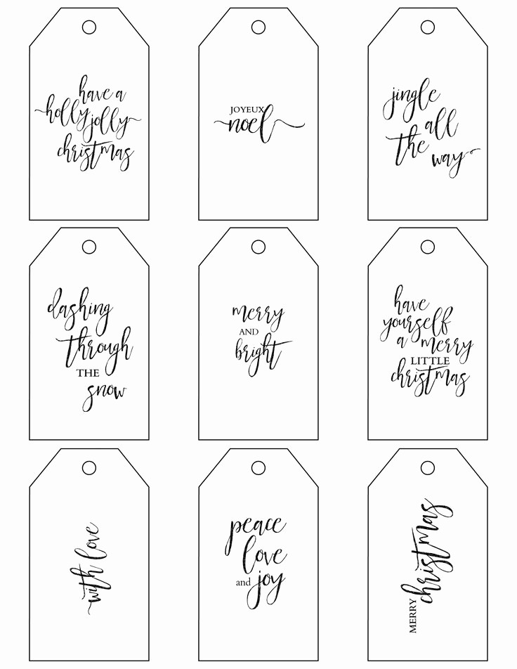 Template for Tags for Gifts Fresh Free Printable Gift Tags Templates Printable 360 Degree