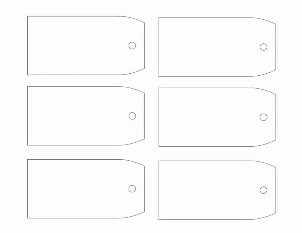 Template for Tags for Gifts Inspirational Free Printable Gift Tags Templates