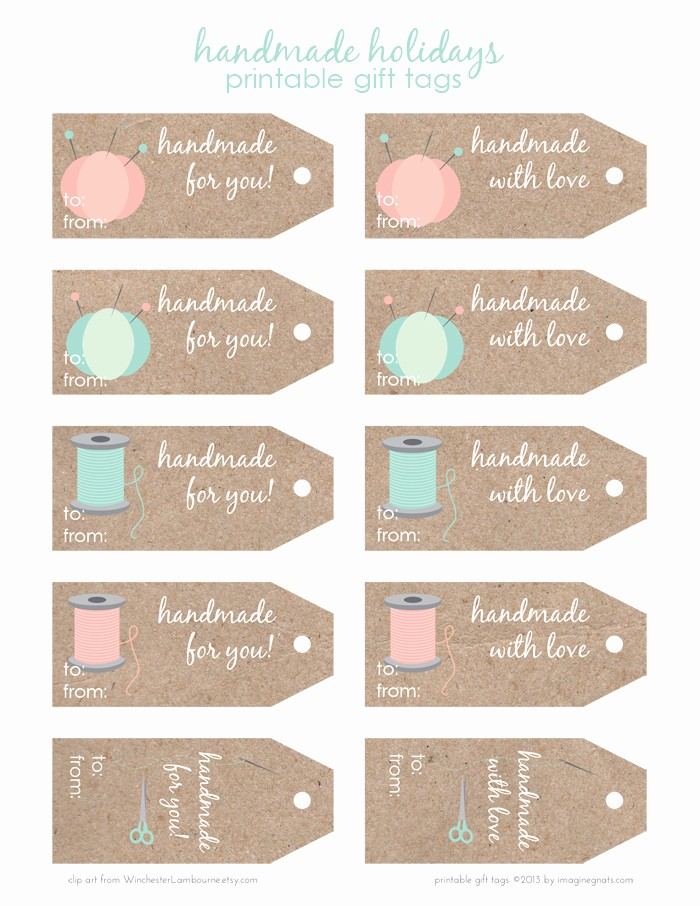 Template for Tags for Gifts Inspirational Free Printable Handmade Holidays T Tags Imagine Gnats