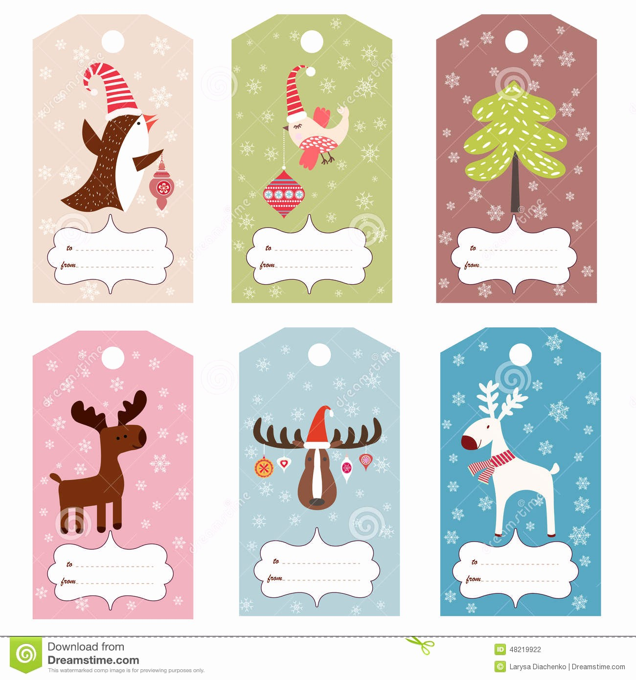 Template for Tags for Gifts Inspirational Set Of Winter T Tags Stock Vector Illustration Of
