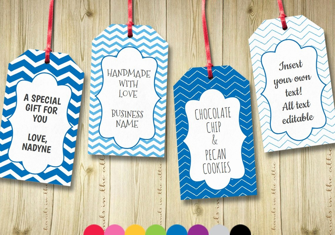 Template for Tags for Gifts Lovely Editable T Tags T Tag Template Text by Handsintheattic