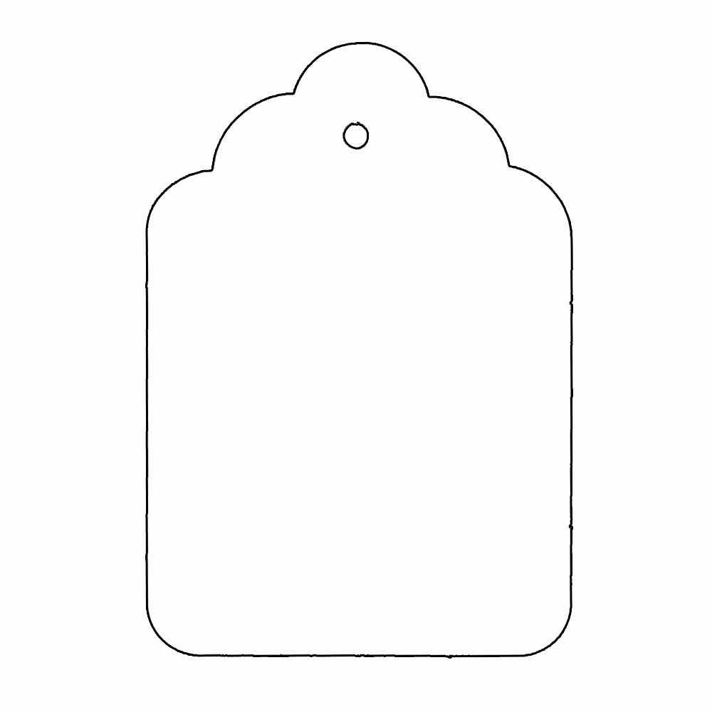 Template for Tags for Gifts Luxury Tag Shape Template