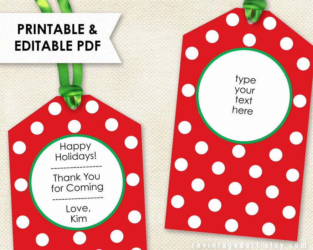 Template for Tags for Gifts Unique Template Gift Tag Template