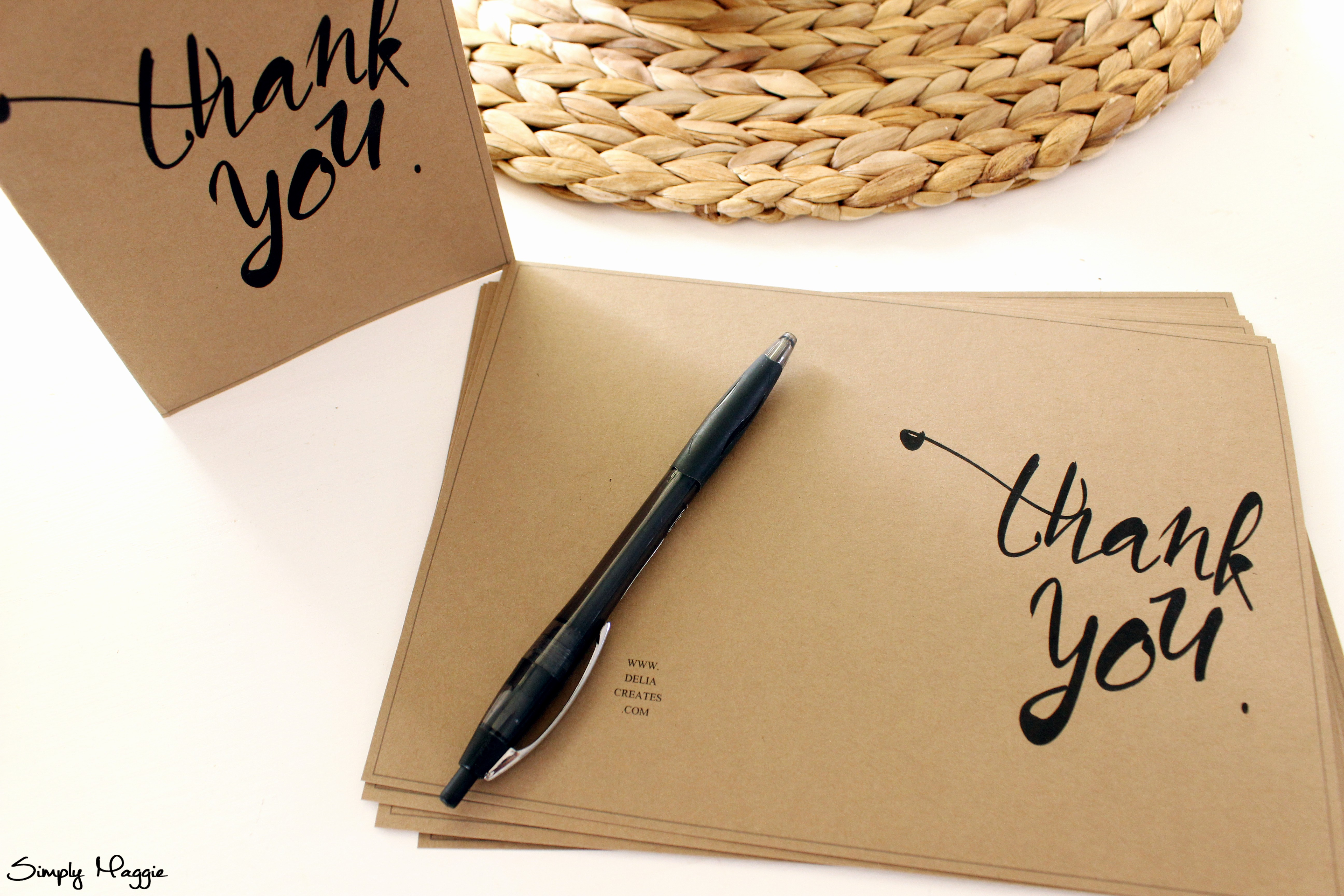Template for Thank You Card Awesome Thank You Card Template Free