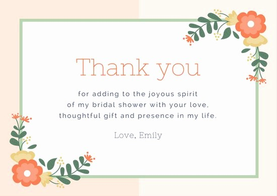 Template for Thank You Card Best Of Thank You Cards
