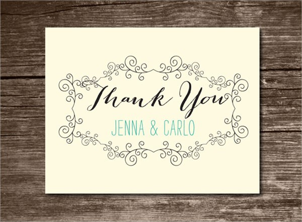 Template for Thank You Card Elegant 23 Printable Thank You Card Templates to Download