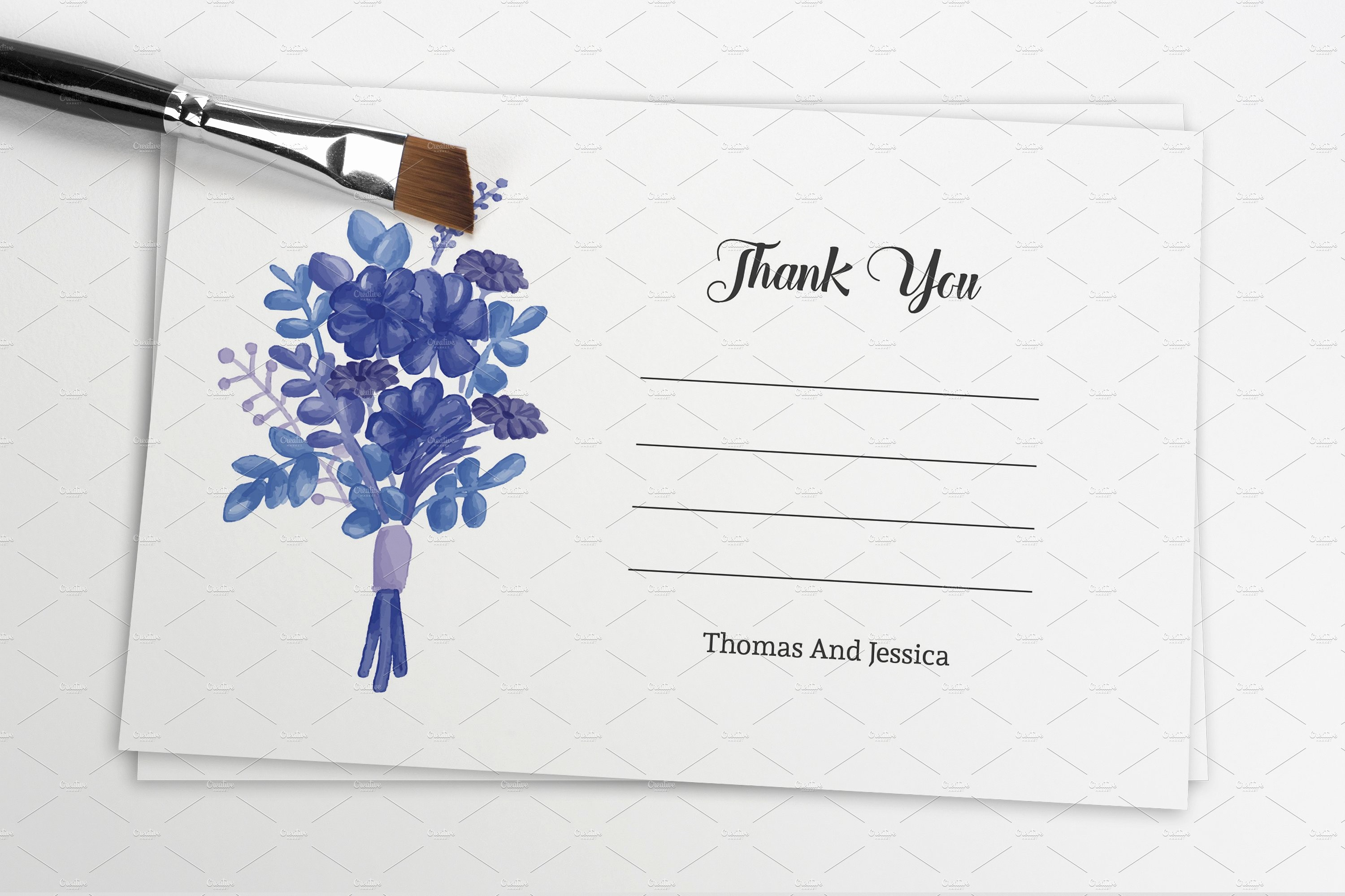 Template for Thank You Card Elegant Wedding Thank You Card Template Card Templates