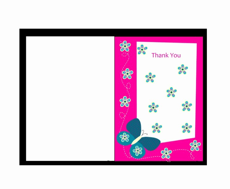 Template for Thank You Card Fresh 30 Free Printable Thank You Card Templates Wedding