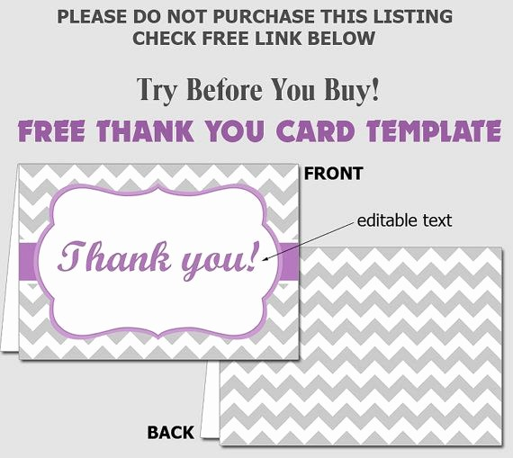 Template for Thank You Card Fresh Free Folded Thank You Card Template Diy Editable