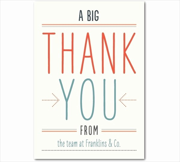 Template for Thank You Card Fresh Thank You Card Templates Free Sample Example format