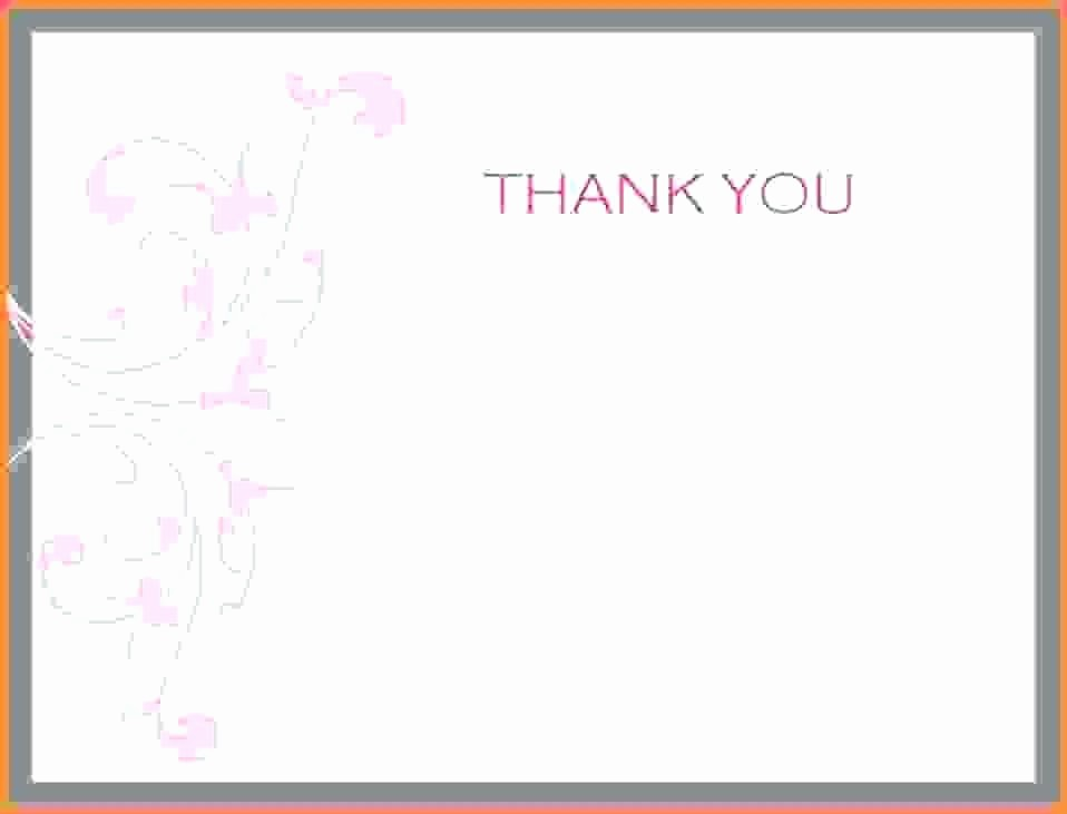 Template for Thank You Card Inspirational Microsoft Thank You Card Template Note Word Messages
