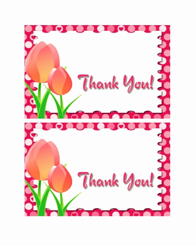 Template for Thank You Card Lovely 30 Free Printable Thank You Card Templates Wedding
