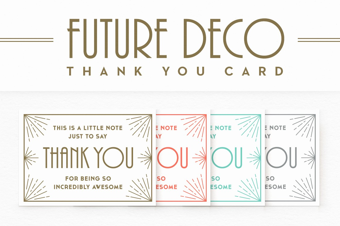 Template for Thank You Card Luxury Futuredeco Thank You Card Card Templates On Creative Market