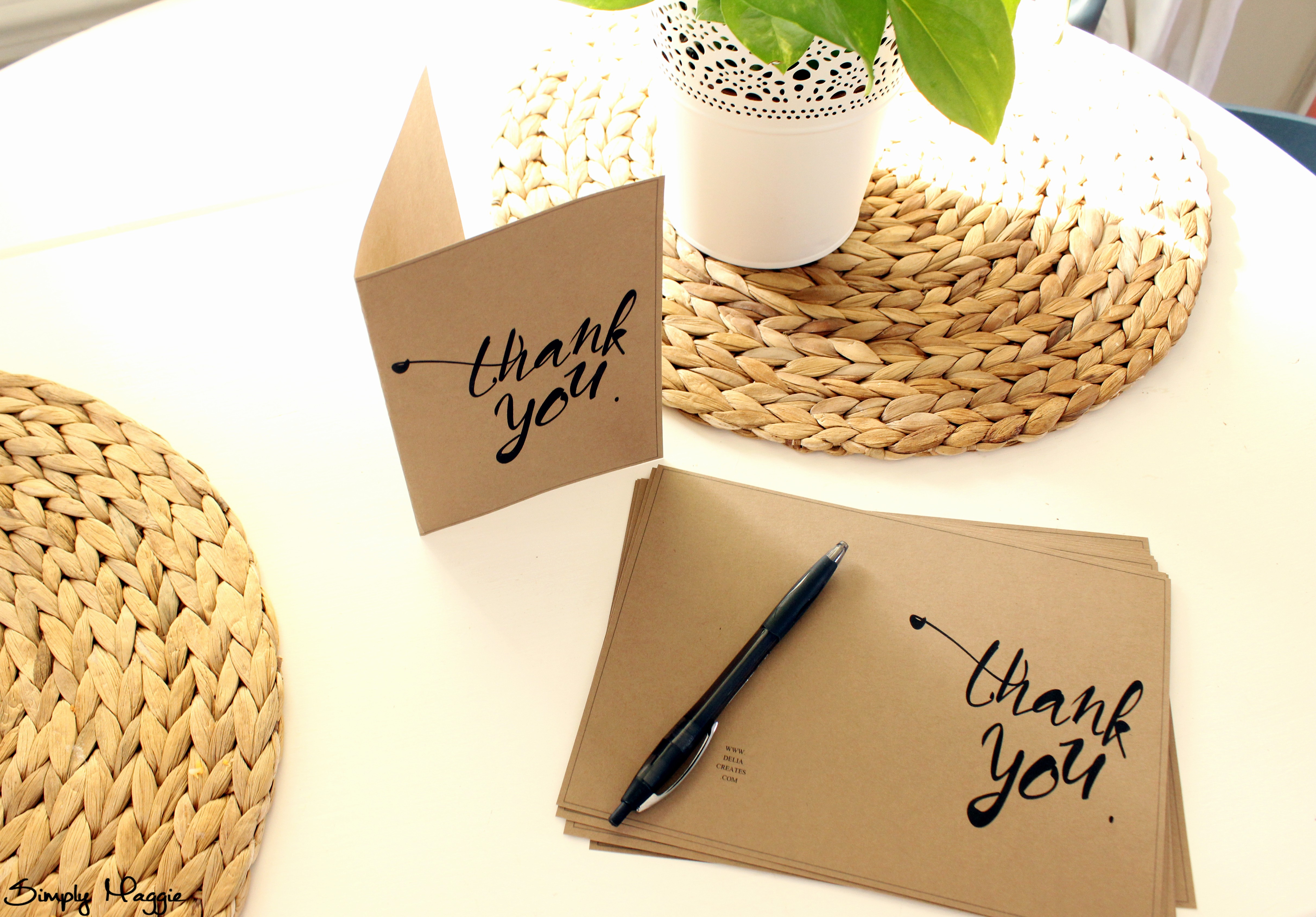 Template for Thank You Card Luxury Thank You Card Template Free
