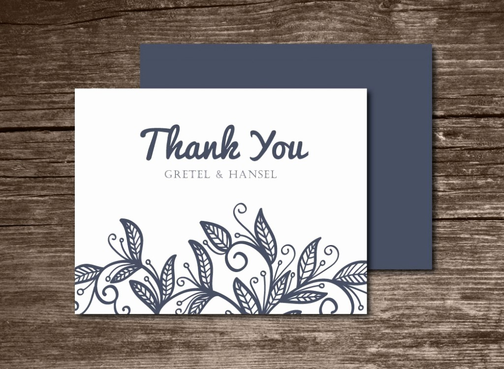 Template for Thank You Card Luxury the Best Thank You Cards Template Designs