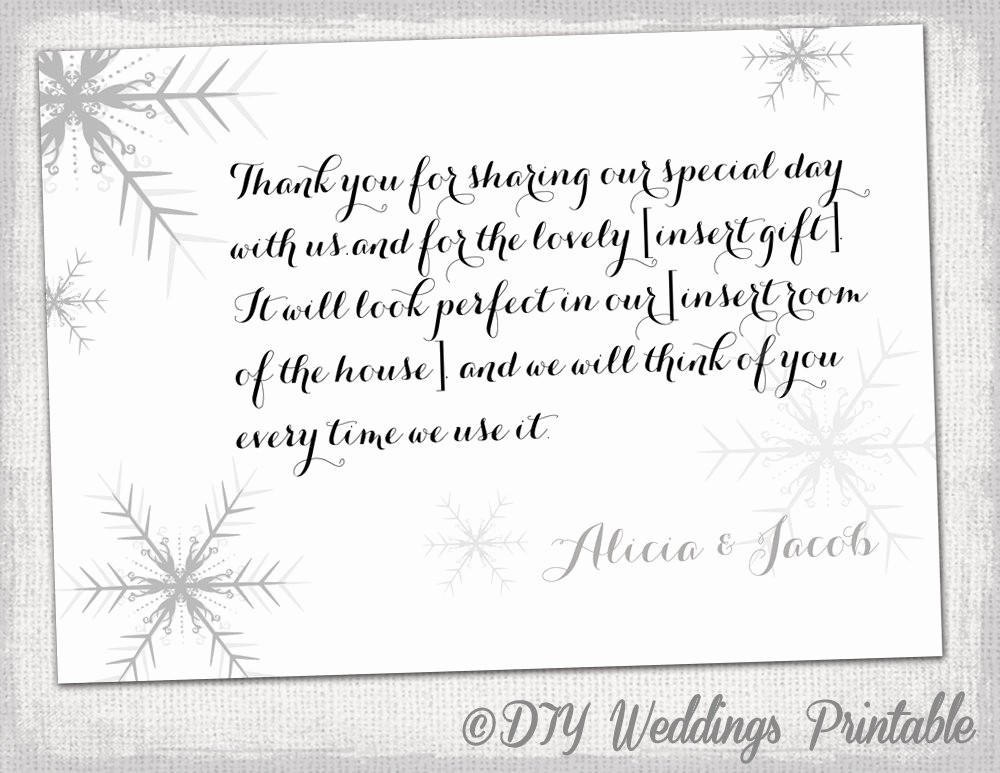 Template for Thank You Card Unique Snowflake Thank You Card Template Snowflake Winter