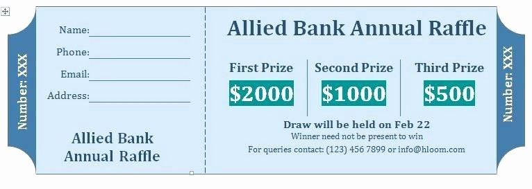 Template for Tickets with Numbers Beautiful Raffle Tickets Template Free Line – Webbacklinksfo