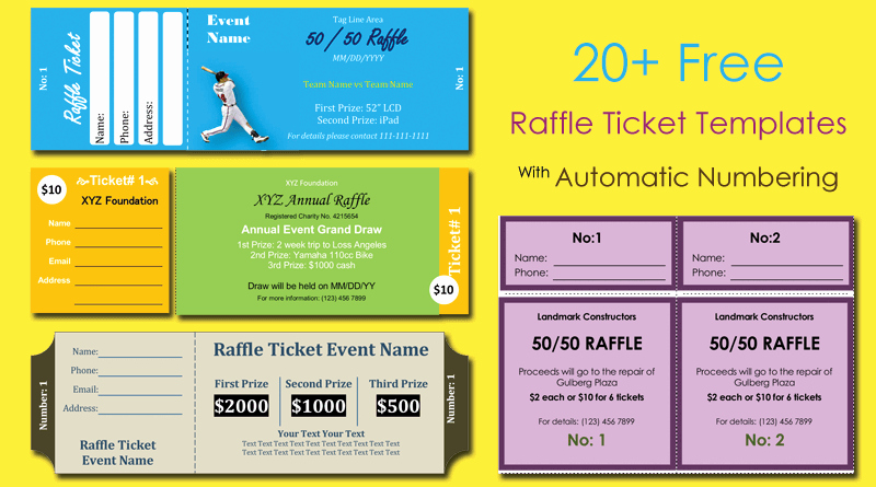 Template for Tickets with Numbers Best Of How to organize A Raffle Fundraiser Step by Step