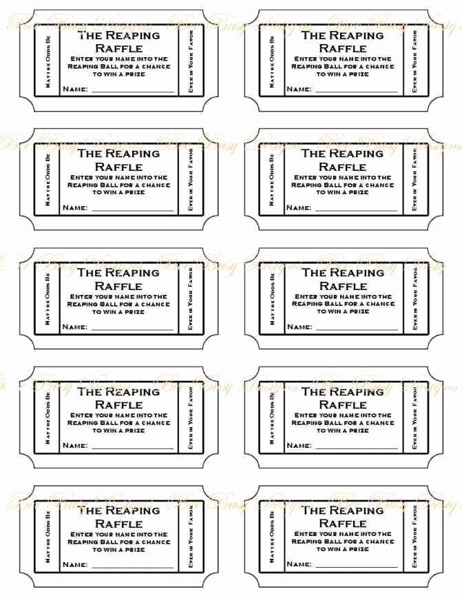 Template for Tickets with Numbers Elegant Free Printable Raffle Ticket Template Printable Numbered
