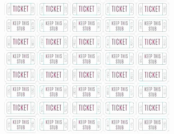 Template for Tickets with Numbers Elegant Lottery Ticket Template Excel Numbered Tickets Free