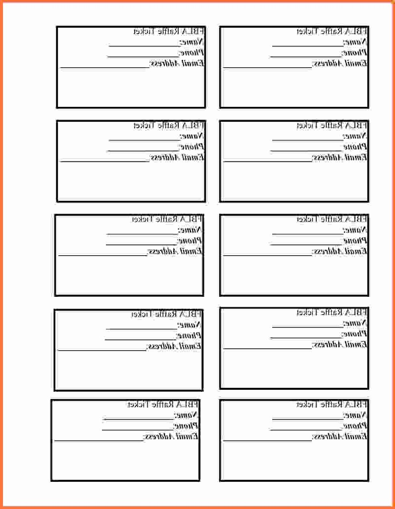 Template for Tickets with Numbers Elegant Printable Raffle Tickets Template