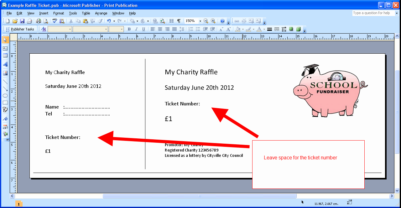 Template for Tickets with Numbers Fresh Template for Raffle Tickets with Numbers