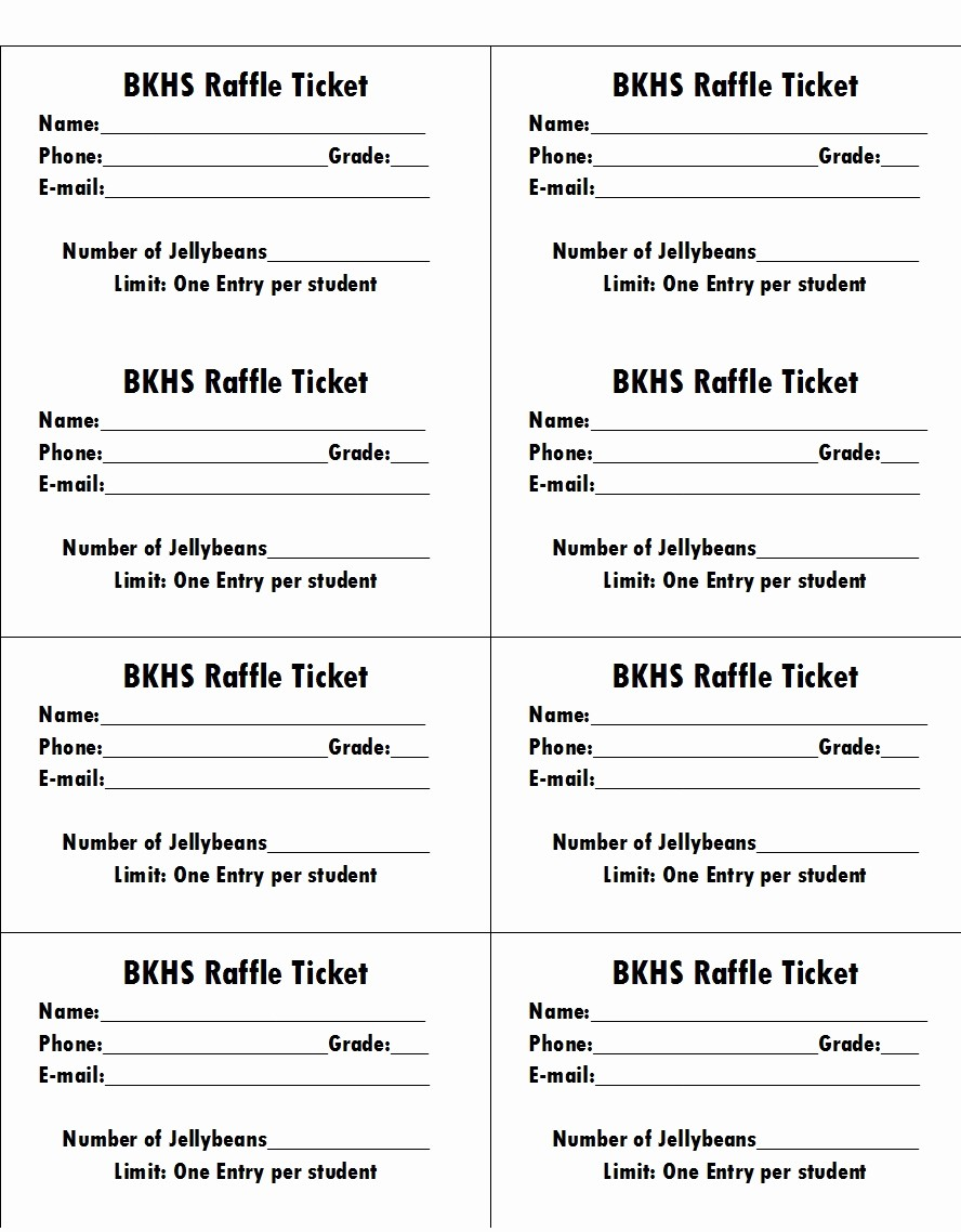 Template for Tickets with Numbers New 50 Free Raffle & Movie Ticket Templates Templatehub