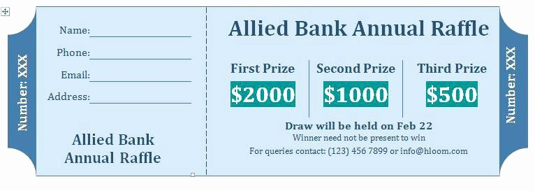 raffle ticket template free templates premium with numbered tickets printable