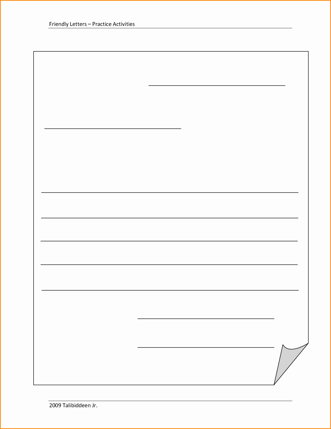 Template Of A Business Letter Beautiful 9 Friendly Letter format Printable
