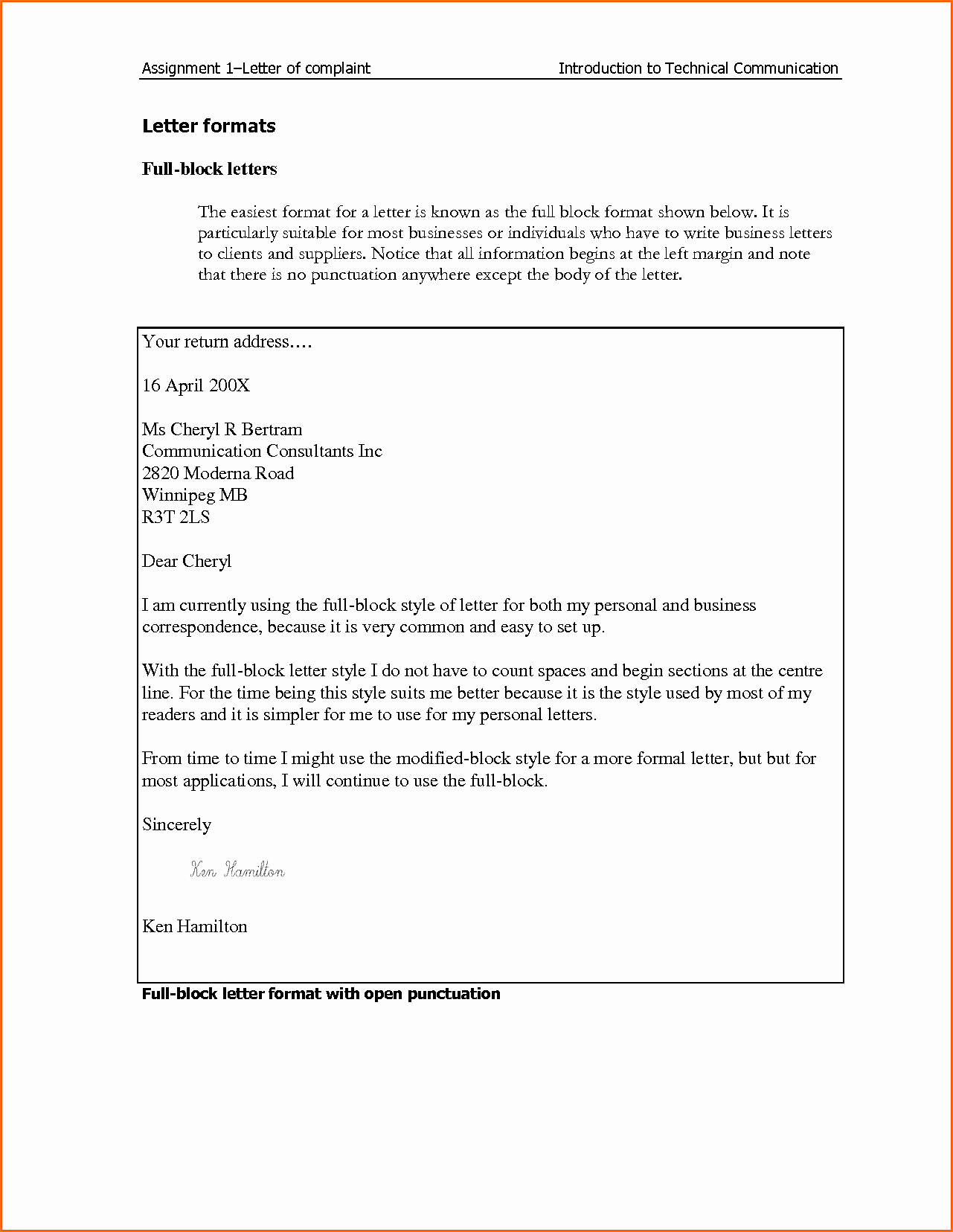 Template Of A Business Letter Beautiful Business Plaint Letter format Mughals