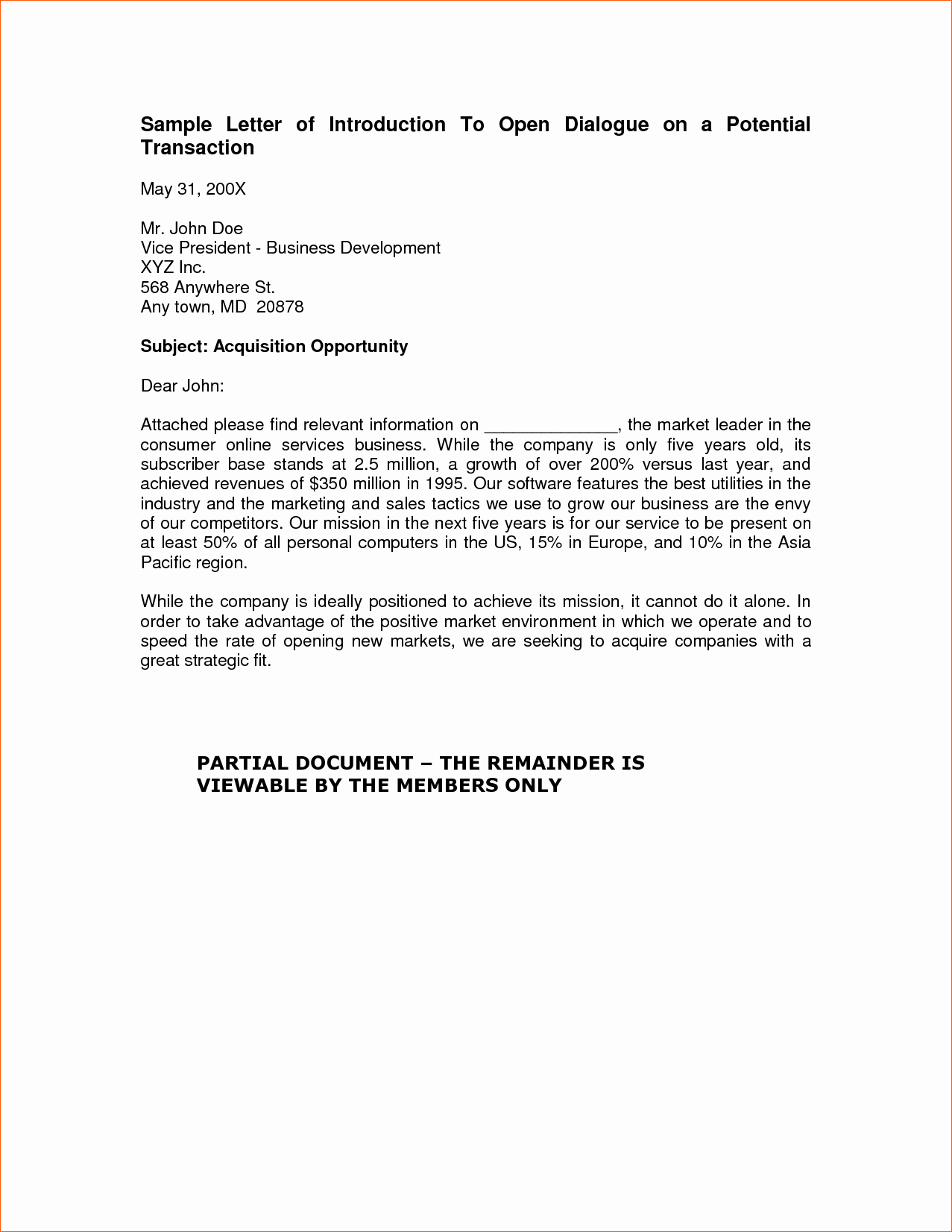 Template Of A Business Letter Fresh 7 Business Letter Of Introduction