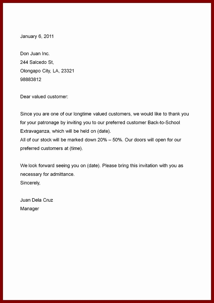 Template Of A Business Letter Fresh 7 Example Of An Business Letter