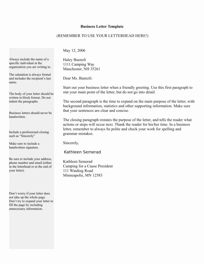 Template Of A Business Letter Fresh Tips for Writing A Letter In Business format