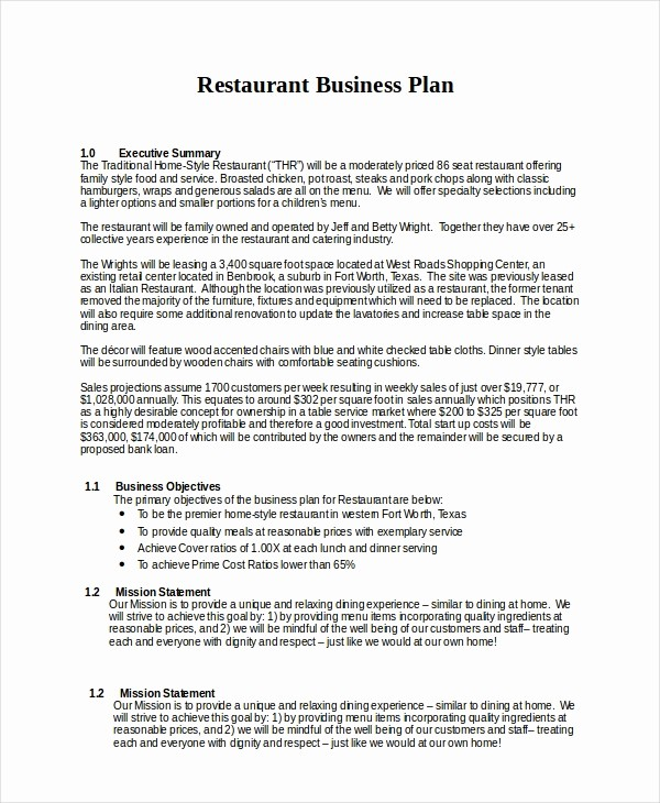 Template Of A Business Plan Awesome 13 Business Plans Free Sample Example format