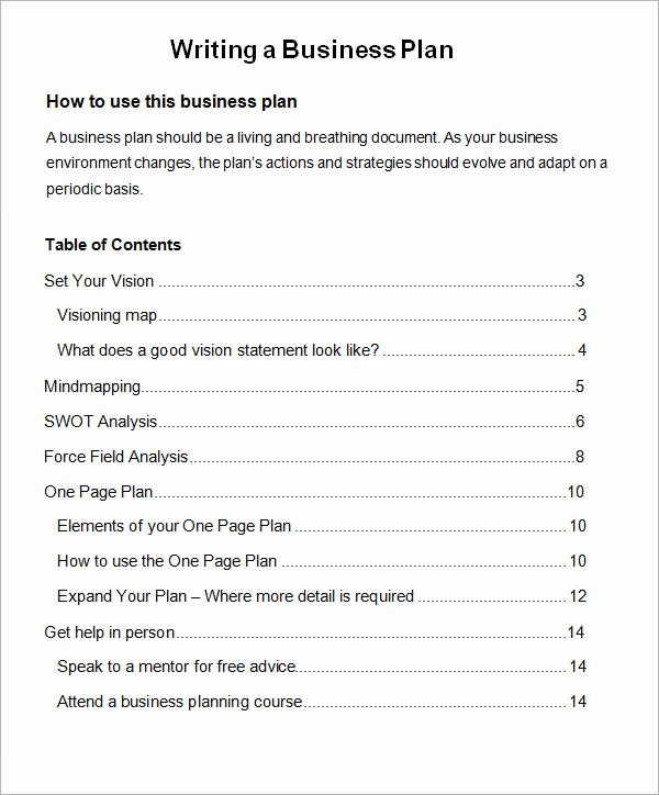 Template Of A Business Plan Beautiful 30 Sample Business Plans and Templates