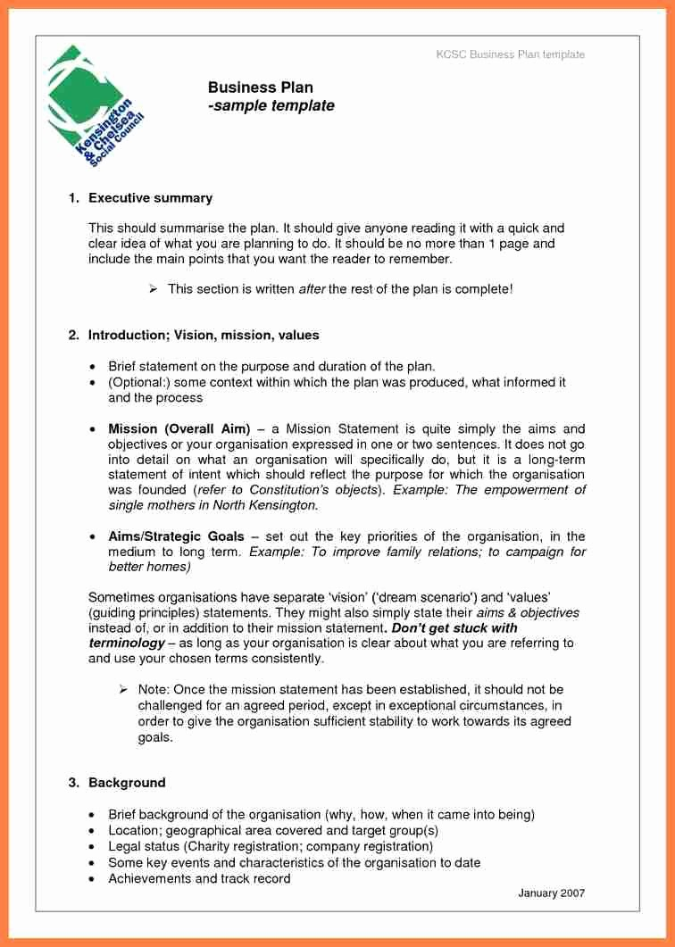 Template Of A Business Plan Fresh 7 Pany Business Plan Template