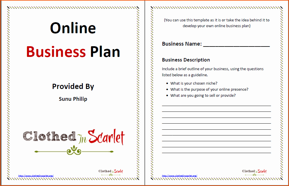 Template Of A Business Plan Inspirational 8 Business Plan Template Word Bookletemplate