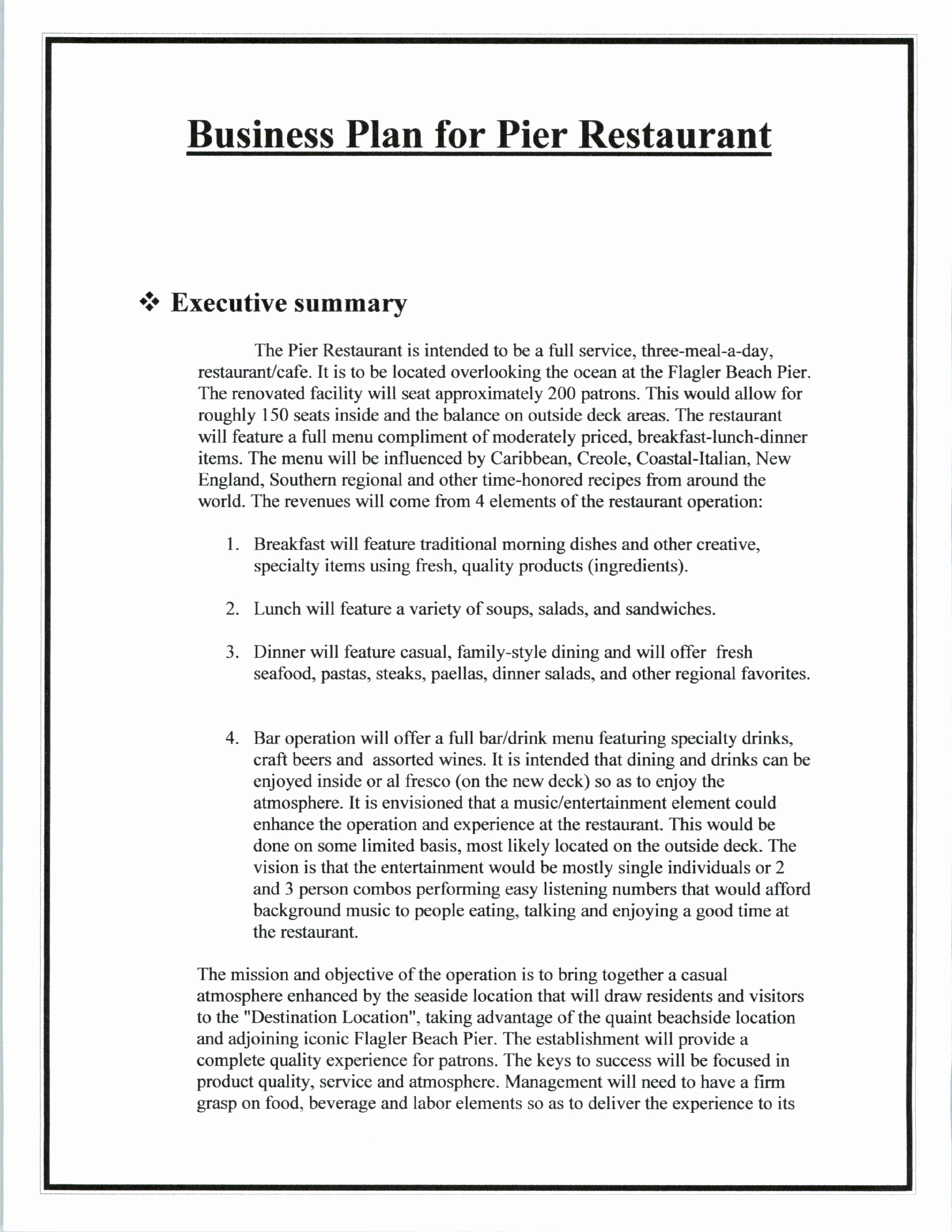 Template Of A Business Plan Luxury Simple Business Plan Template