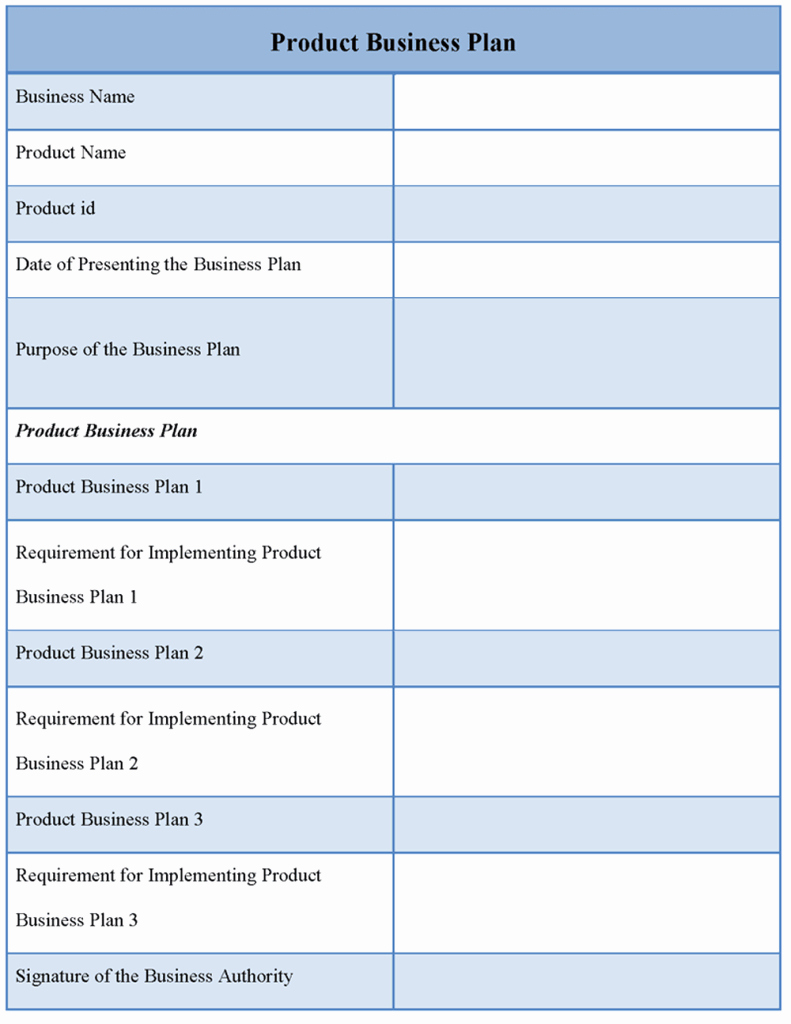 Template Of A Business Plan Unique Product Template for Business Plan Sample Of Product