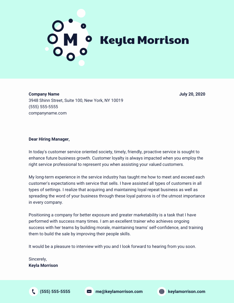Template Of A Cover Letter Elegant 10 Cover Letter Templates and Expert Design Tips to