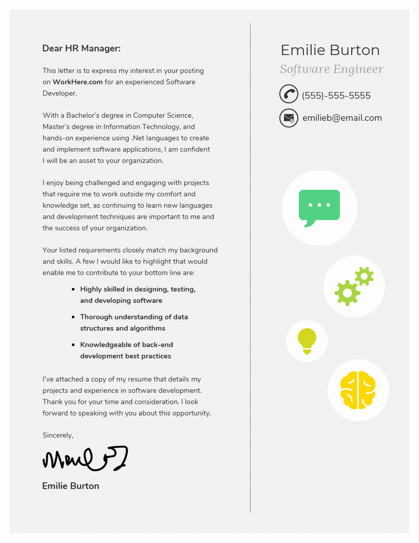 Template Of A Cover Letter Fresh 10 Cover Letter Templates and Expert Design Tips to